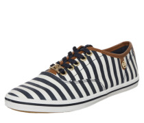 Sneaker low 'Canvas Stripes' blau