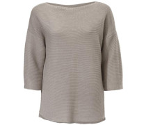 Oversized-Pullover Grobstrick taupe
