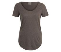 T-Shirt 'VMLua' braunmeliert