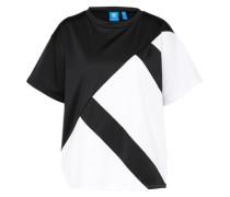 T-Shirt 'adidas EQT Blocked' schwarz / weiß