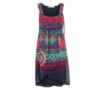 Kleid mit floralem Muster-Mix navy / beere / mischfarben