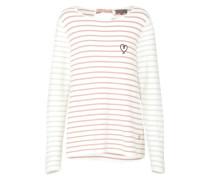 Pullover 'TheaL' grau / rosé / weiß