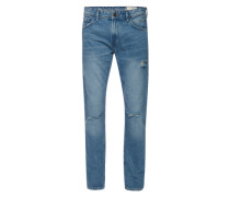 Jeans 'aedan slim destroyed denim' blue denim