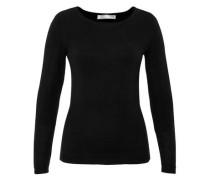 Pullover mit Strickschleife schwarz