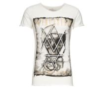 T-Shirt 'MT Everlasting' grau / weiß