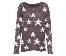 Sweater 'Star' anthrazit / weiß