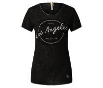 T-Shirt schwarz / grau