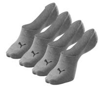 Füßlinge (4 Paar) grau