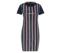 Kleid mit Paillettenbesatz blau