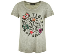 Shirt 'tiger AND Badges' grau