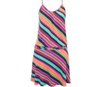 Strandkleid mit gerafften Seiten mischfarben