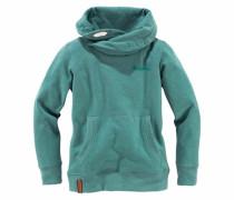 Sweatshirt mit Schalkragen grün
