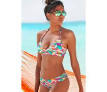 Triangel-Bikini türkis / orange / pink / weiß