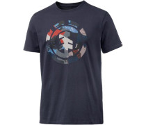 'Cut Out In' Printshirt Herren navy