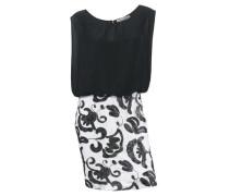 Paillettenkleid schwarz / weiß