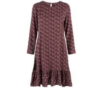 Kleid mit langen Ärmeln braun