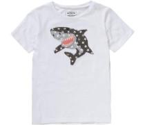 Slubjersey-T-Shirt für Jungen weiß
