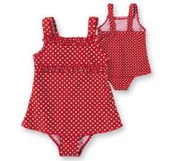 Badeanzug mit UV Schutz rot