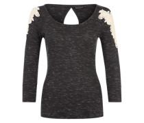 Shirt 'Lace Shirt' schwarz