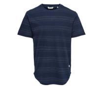 T-Shirt Gestreiftes dunkelblau
