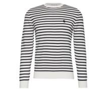 Pullover mit Ringel-Muster 'Champ' navy / weiß