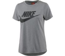 T-Shirt 'Essential High Brand Read' graumeliert