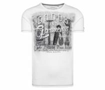 T-Shirt schwarz / weiß / grau