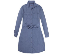 Kleid 'thdw Shirt Dress L/S 20' taubenblau