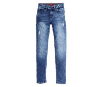 Skinny Seattle: Denim Jogger blau