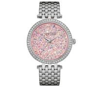 Armbanduhr »Crystal Rock 43L194« rosa / silber