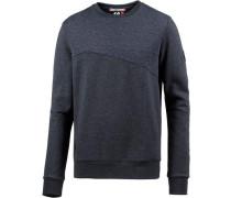 Sweatshirt Herren blaumeliert