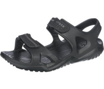 'Swiftwater River' Sandalen schwarz