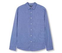 Hemd aus Baumwolle himmelblau
