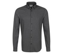 Hemd schwarz / dunkelblau