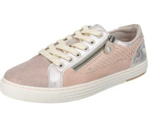 Sneakers creme / rosa / silber