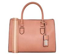 Handtasche mit Streifen-Gurt pink
