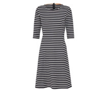Kleid 'Dressie' nachtblau / offwhite