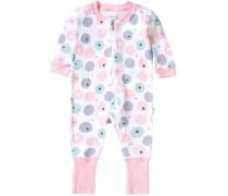 Baby Schlafanzug für Mädchen weiß