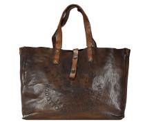 Faggio Donna Shopper Tasche Leder 42 cm braun