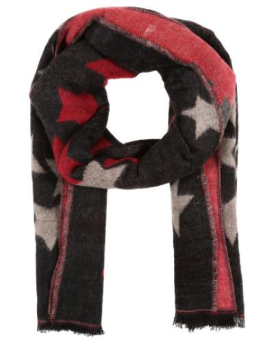 Schal mit Sternen-Muster rot / schwarz