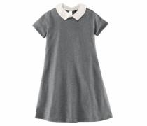 Jerseykleid graumeliert / weiß