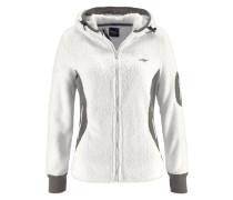 Kapuzensweatshirt dunkelgrau / weiß