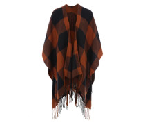 Poncho blau / orange