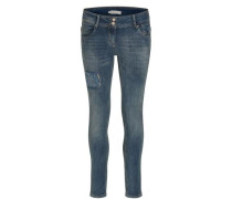 Jeans mit dezenten Destroyed Details blue denim