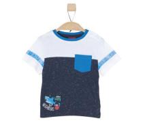 Jerseyshirt mit Kontrasten blau / weiß