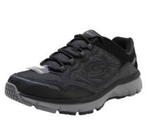 Sneaker mit Lederbesatz schwarz