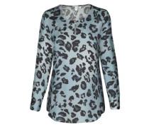 Fashion-Bluse 'Schwarze Rose' navy / hellblau
