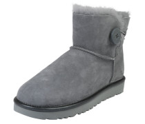 Schneestiefel 'Mini Bailey Button II Metallic' grau