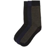 Socken 3er-Pack schwarz