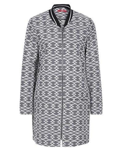 s oliver damen s oliver jacquard mantel mit rei verschluss. Black Bedroom Furniture Sets. Home Design Ideas
